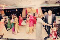 sangeet,pre-wedding celebrations,indian bride and groom,dj