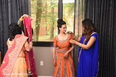 indian bride,getting ready,hair and makeup,indian bridal fashion