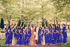 indian bride and groom,indian bridesmaids,indian wedding photography