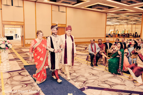 Indian groom entrance.