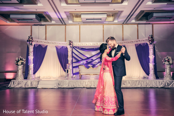 Dreamy Indian couple's dance.