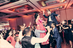 indian wedding reception,indian bride and groom,dj