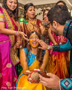 pre- wedding celebrations,indian bride,haldi ceremony