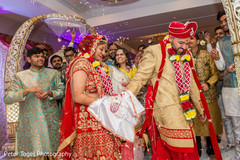 indian wedding ceremony,indian bride and groom,saptapadi ritual