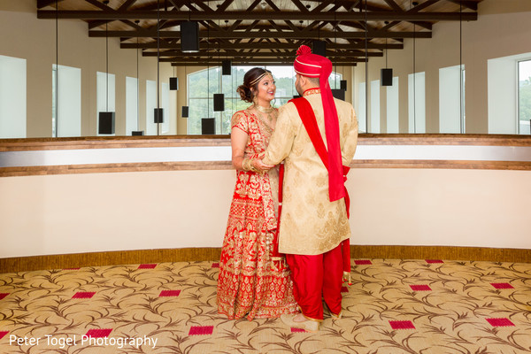 Heart melting indian couple first look in Birmingham, AL Indian Wedding by Peter Togel Photography