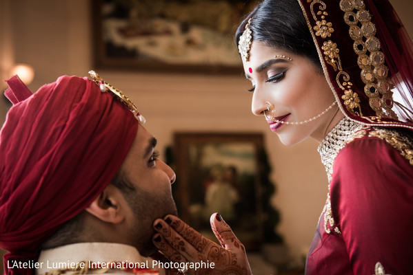 indian bride and groom,bridal jewelry,indian wedding gallery