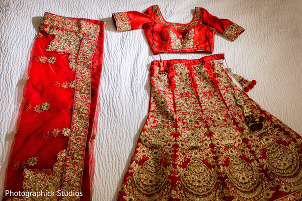 Traditional indial bridal lengha
