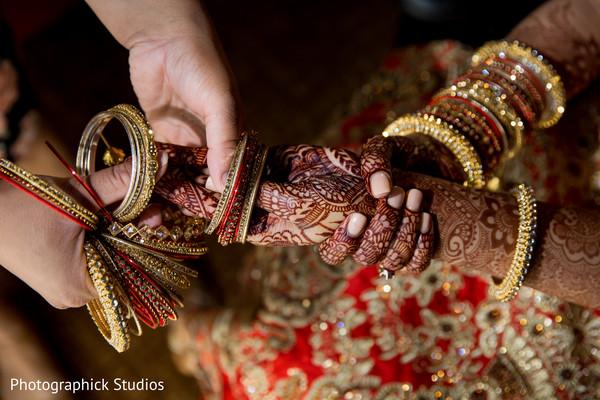 indian bride getting ready,mehndi art,indian bridal mehndi,maharani's bridal bangles