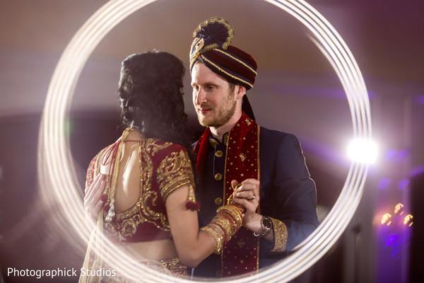 Marvelous indian wedding reception first dance capture