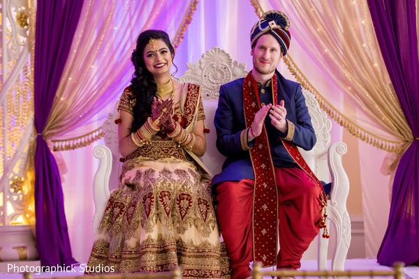 Ravishing indian couple at their wedding reception