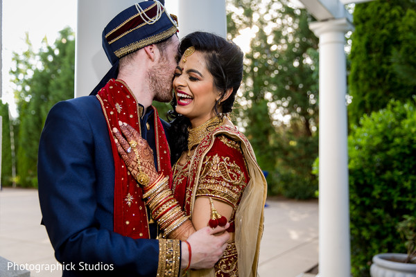Indian bride and groom's treasured moments