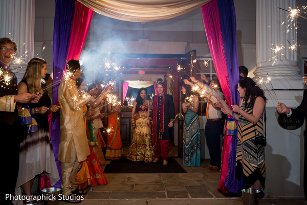indian wedding reception,indian wedding cake,indian bride and groom,fireworks