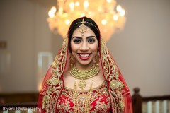 Indian bride's portrait