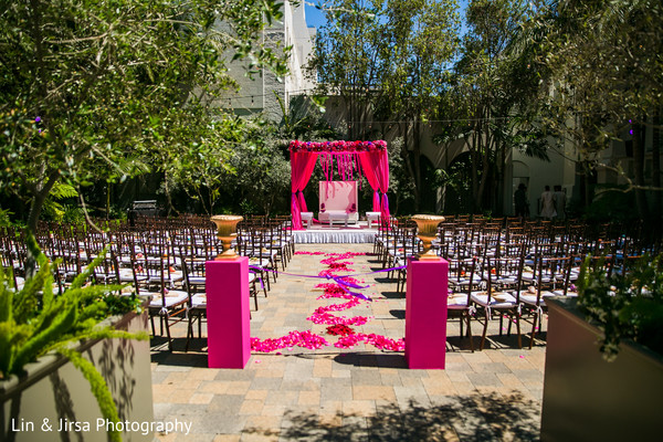 Magical outdoor Indian wedding venue.