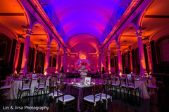 indian wedding reception,floral and decor,up-lightning