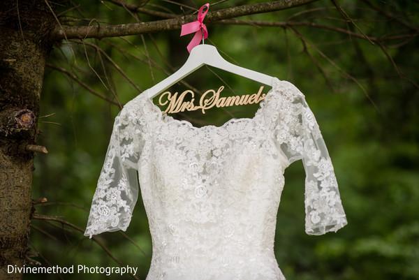 Indian bride's white dress