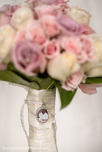 Personalized indian bridal bouquet