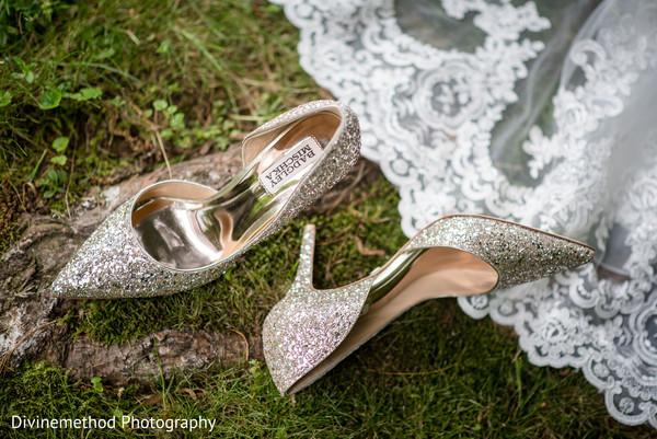 Elegant indian bride's shoes