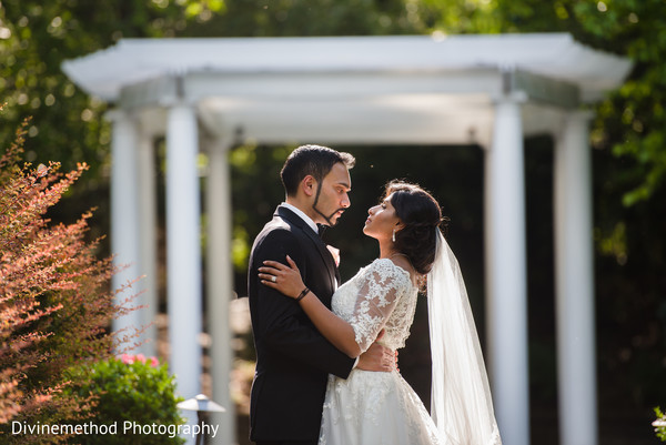 Romantic indian bride and groom's capture