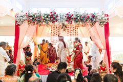 indian wedding ceremony,indian bride and groom,indian wedding ceremony photography,saptapadi ritual