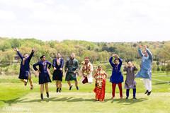 outdoor photography,indian bride and groom,indian groomsmen
