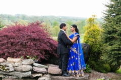 outdoor photography,indian bride reception fashion,indian groom suit
