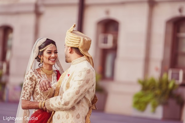indian bride and groom fashion,first look,indian wedding photography