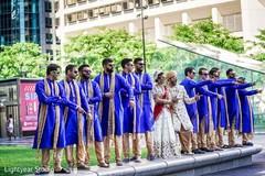 indian bride and groom,groomsmen fashion,indian wedding photography