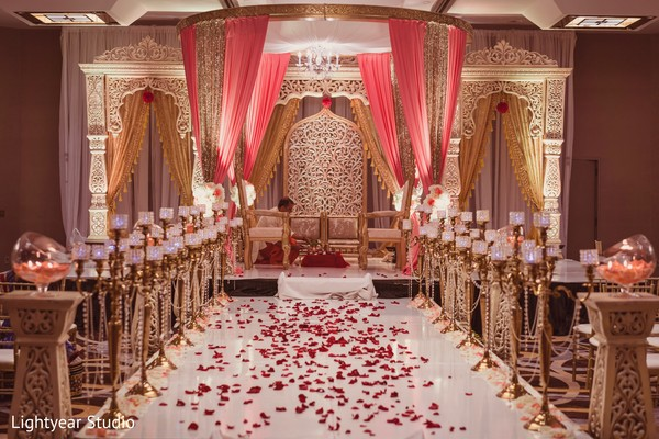 floral and decor,mandap,indian wedding ceremony