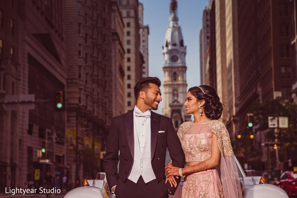 indian wedding fashion,tux,reception fashion,indian bride and groom