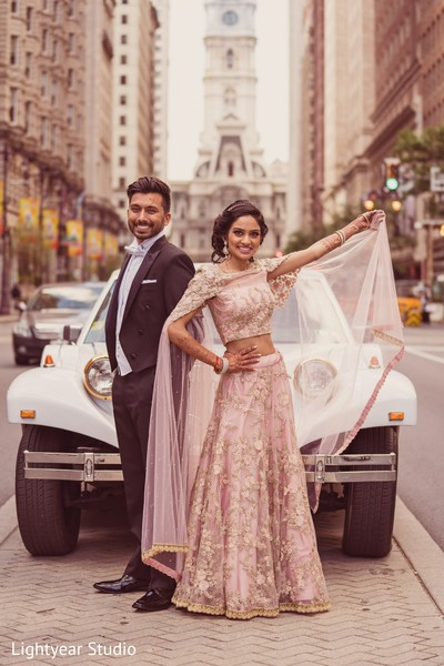 indian wedding photography,reception fashion,indian bride and groom,transportation