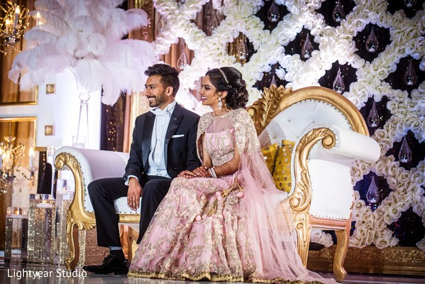 Lush Indian wedding sweetheart stage.