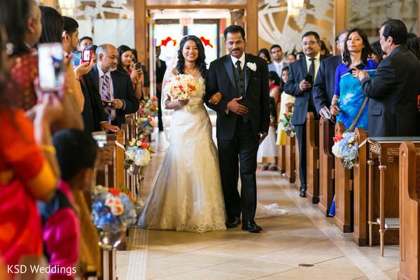 Gorgeous indian bride's entrance