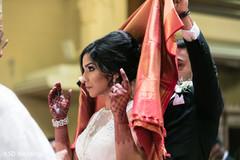 Indian catholic wedding fusion ceremony.