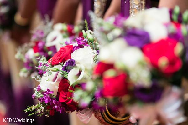 Bridesmaids floral bouquets.