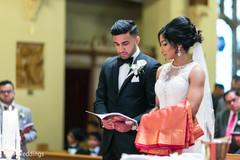 Beautiful Indian couple's catholic wedding ceremony.