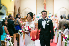 Happy newly wedded couple.