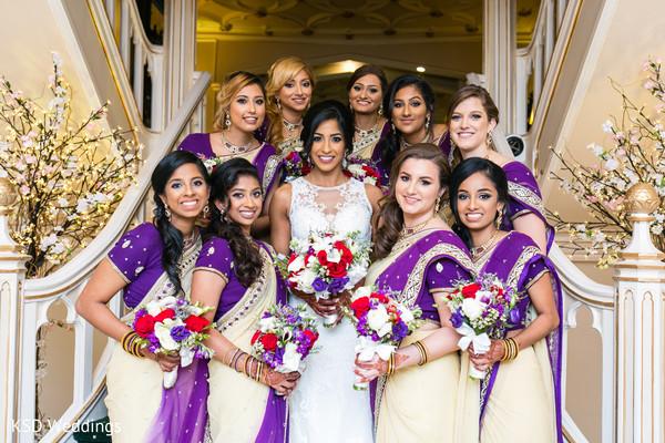 Fantastic Indian bride's entourage.