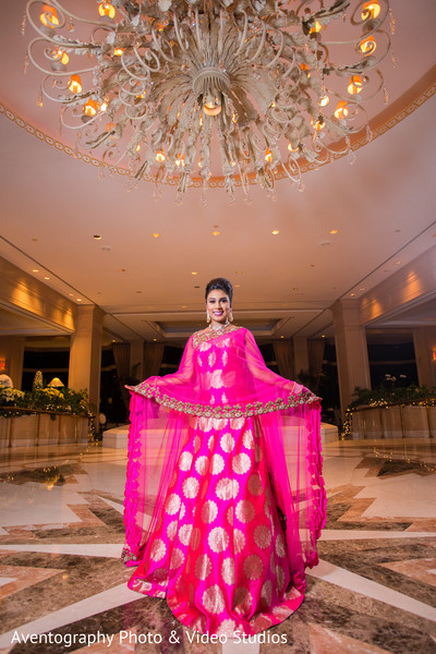 Stunning Indian bride reception outfit.