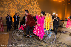 indian wedding reception,indian bride and groom,rickshaw
