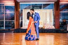 first dance,indian newlyweds,indian wedding reception