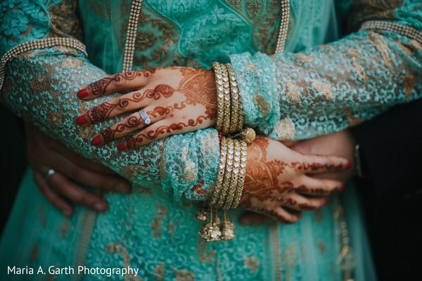 Indian bride hand glitz.