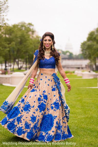 indian wedding reception fashion,indian bride lengha,golden bridal lengha