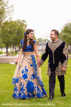 bridal lengha,reception lengha,blue lengha