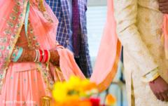 indian bride fashion,bridal lengha,peach lengha