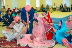 peach dupatta,pink lengha,peach lengha,indian wedding