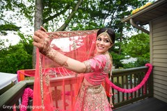 pink bridal lengha,pink dupatta,indian bride fashion