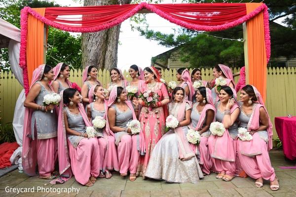 Maharani enjoying her time with the bridesmaids