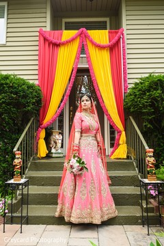 Stunning indian bride in her ceremony lengha