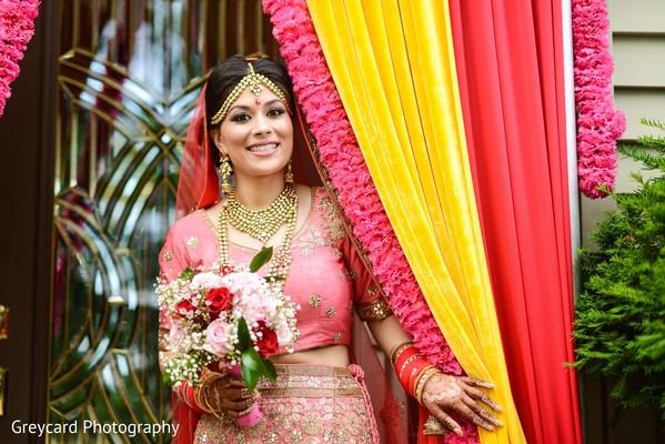 Lovely indian bride flower bouquet